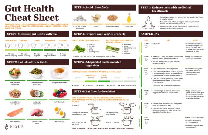 Pique's Gut Health Cheat Sheet
